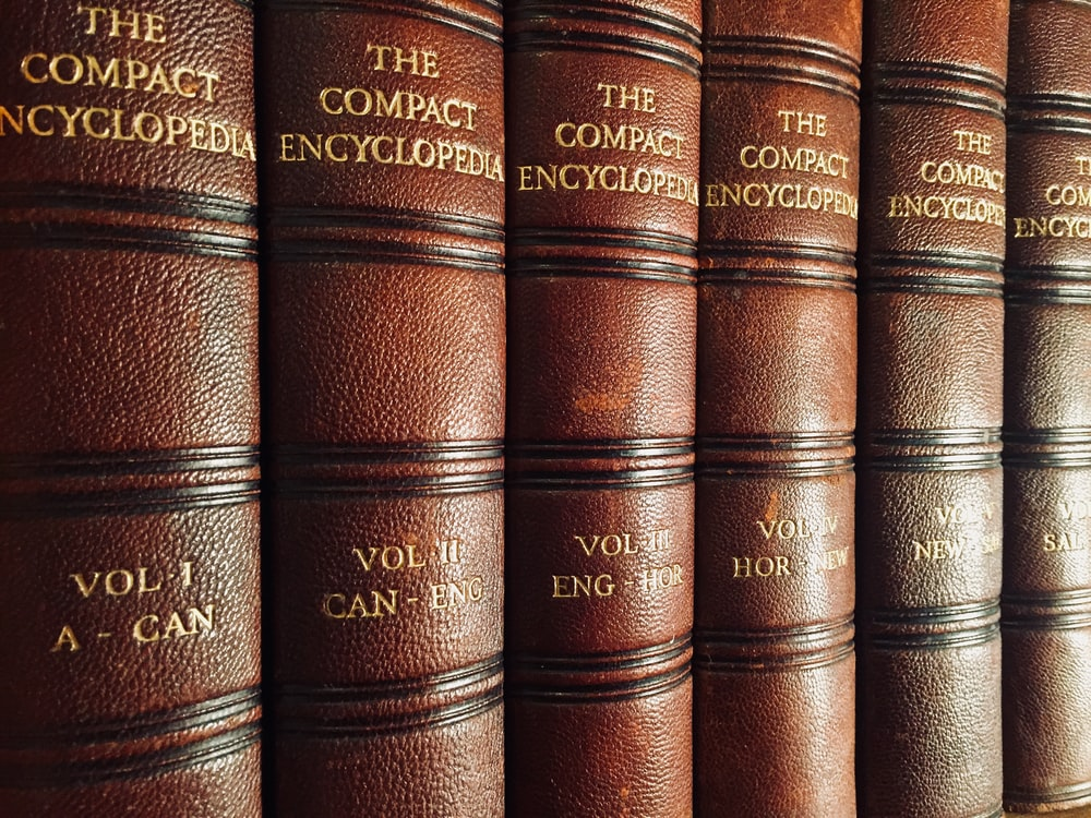 close view of The Compact Encyclopedia collection