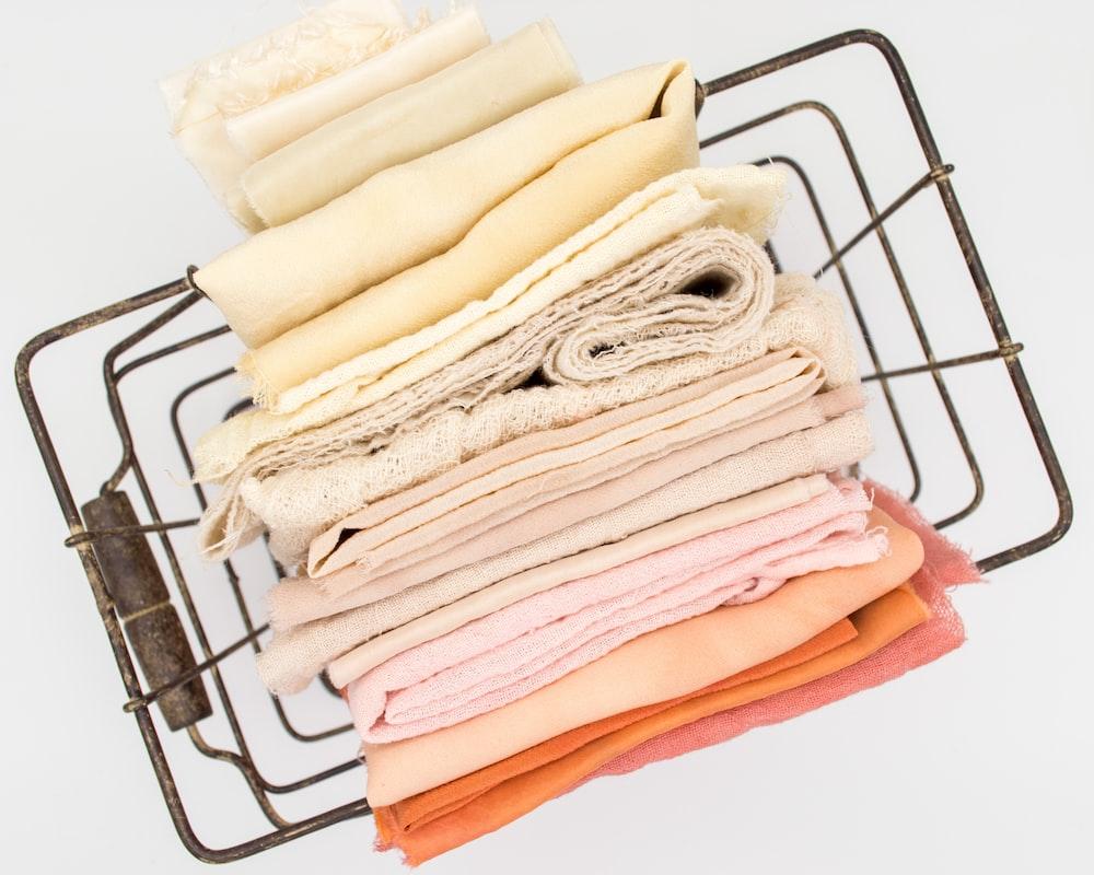 basketful of textiles