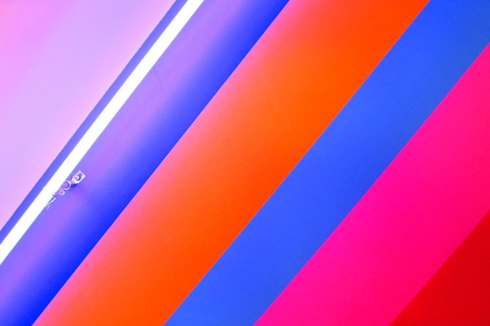 multicolored striped door