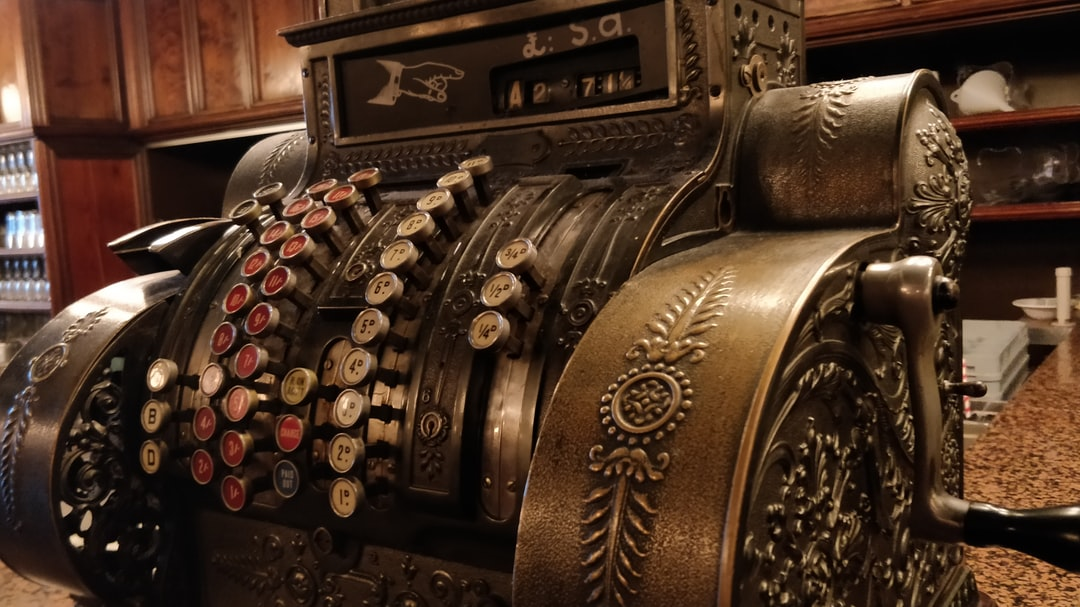I love beautiful old machines and this cash register in a restaurant in Perth, Scotland really caught my eye. I love the voluptuousness and the detail lavished on it.