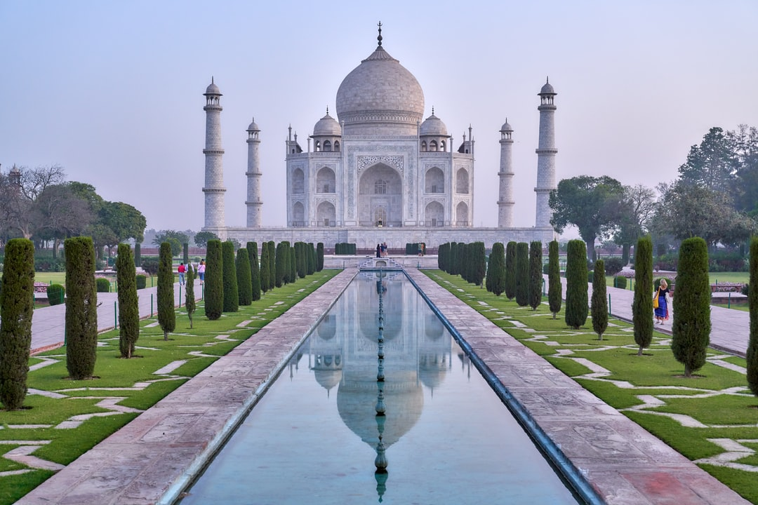 Entering the Taj Mahal at the sunrise… The view was breathtaking!