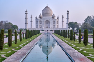 photo of taj mahal india zoom background