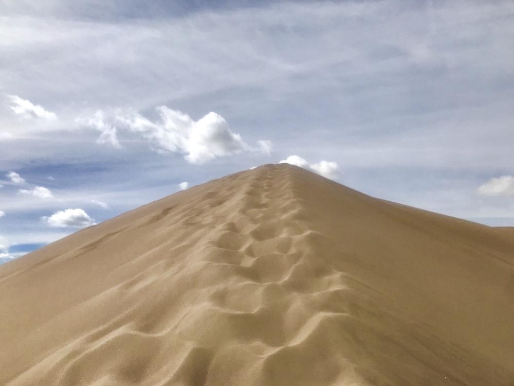 desert under clear blue sky