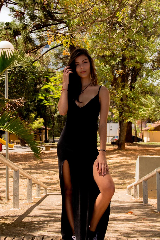 Womens Black Sleeveless Dress