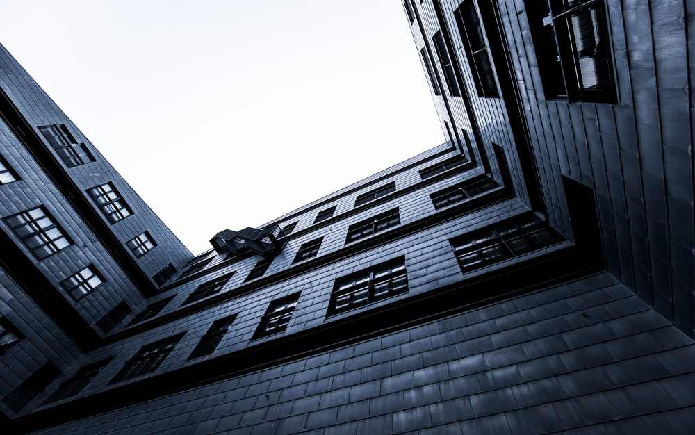 worm's-eye view photography of building