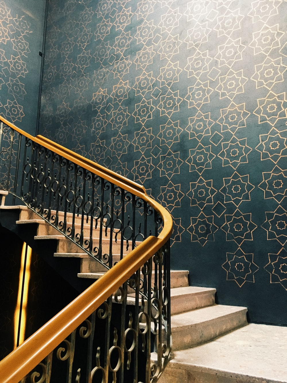 brown and black staircase