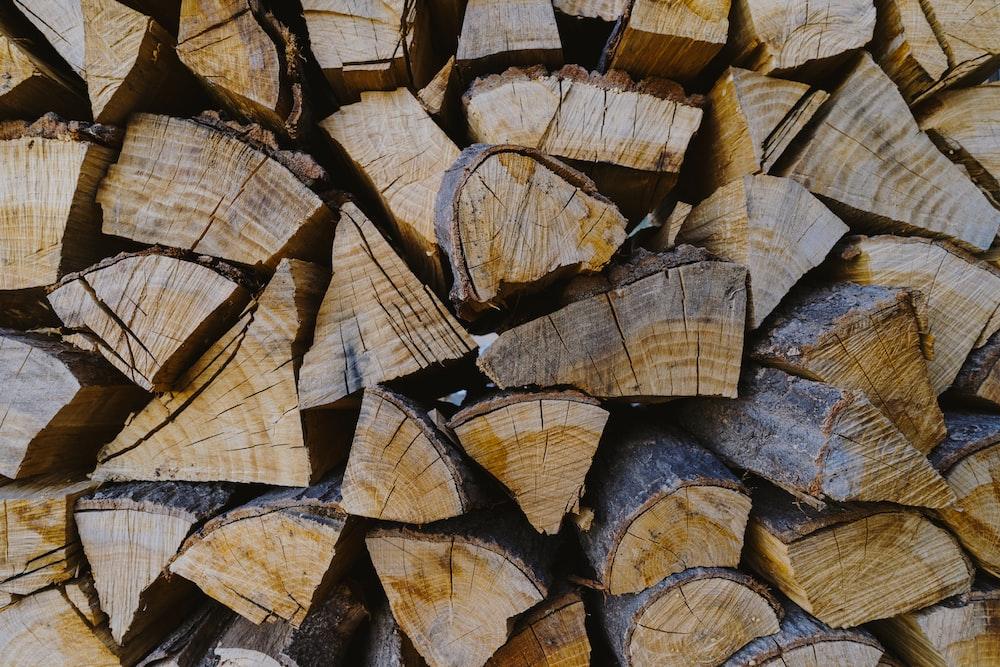 brown firewoods