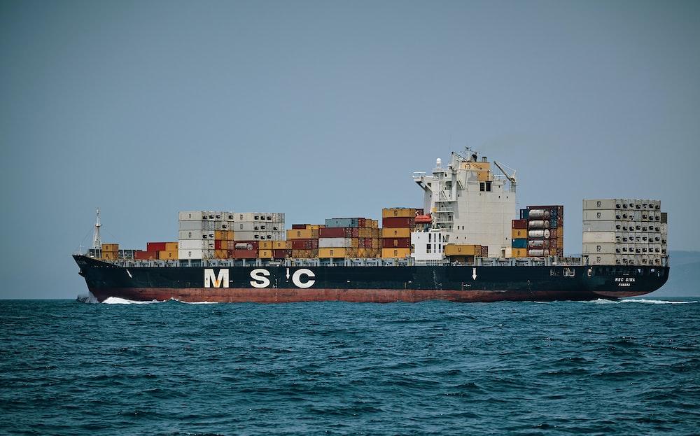 M S C cargo ship sailing