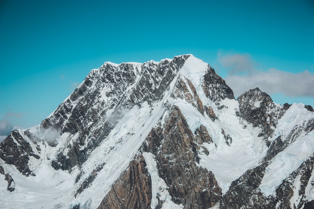 landscape photography of mountain with snow