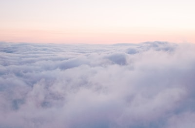 photography of white clouds pastel zoom background