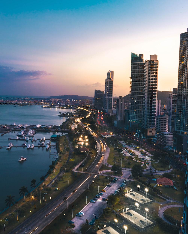 panama city at sunset