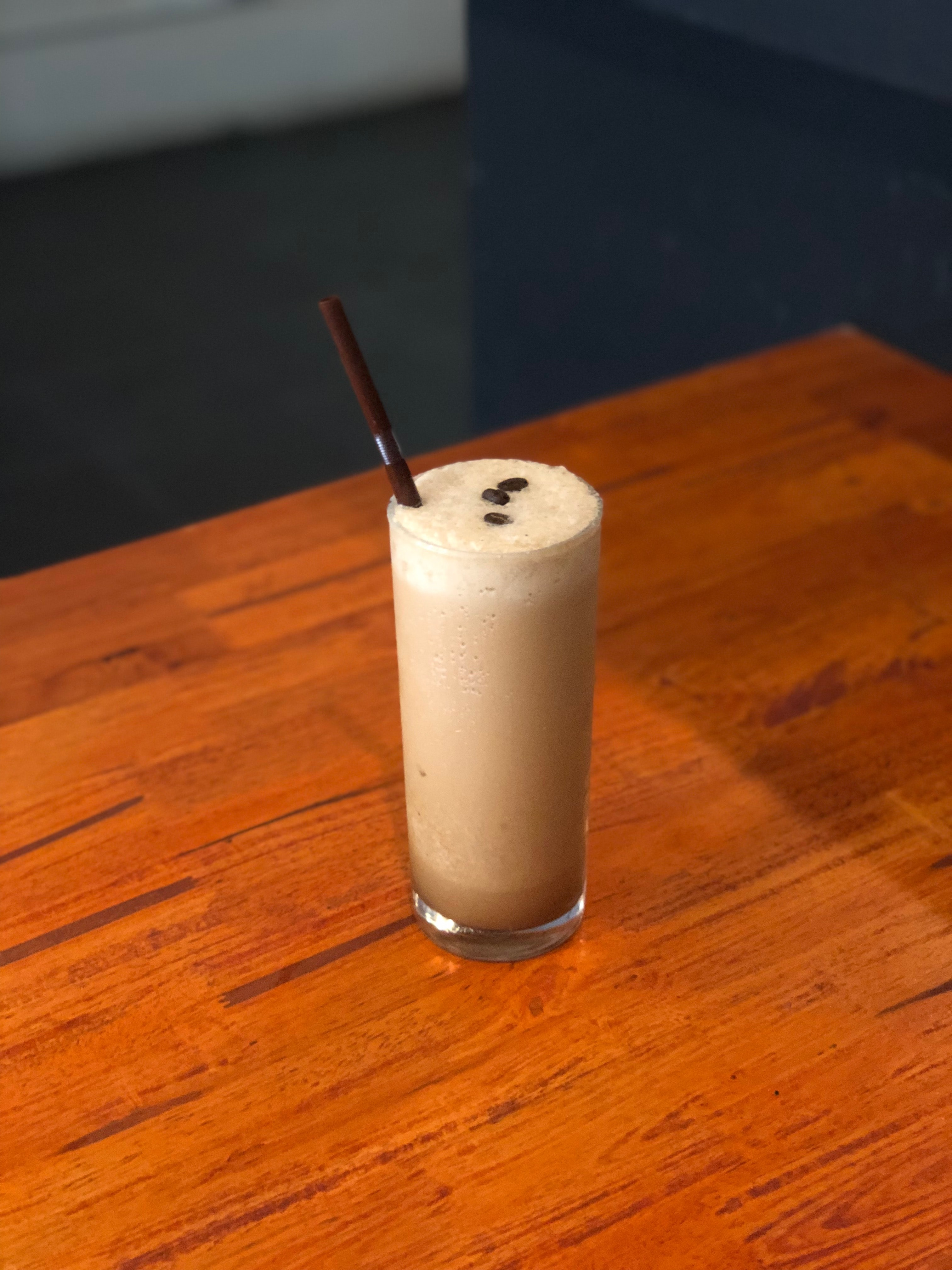 beverage shake on top of table