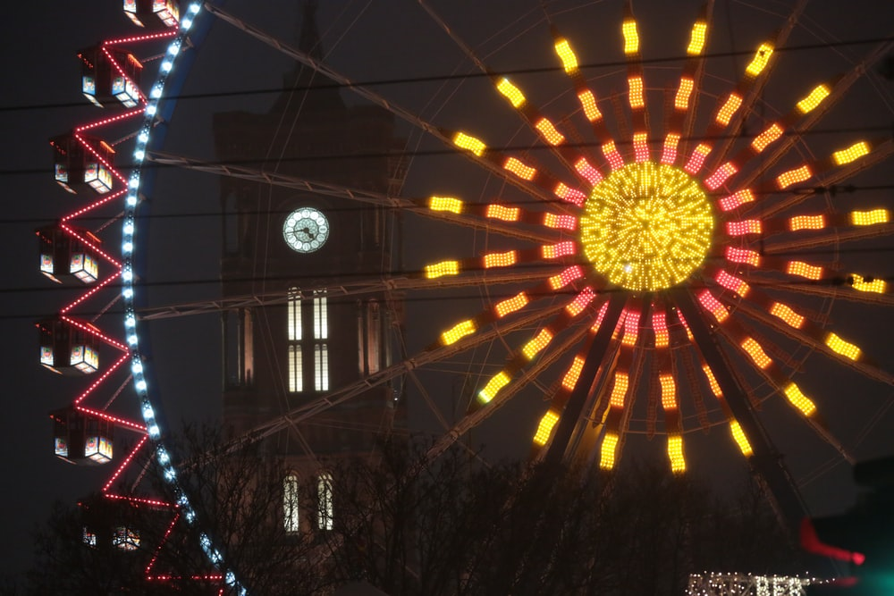ferris wheel with lights
