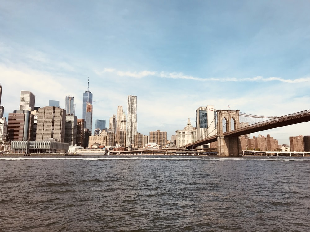 landscape photography of Brooklyn Bridge, New York at daytime