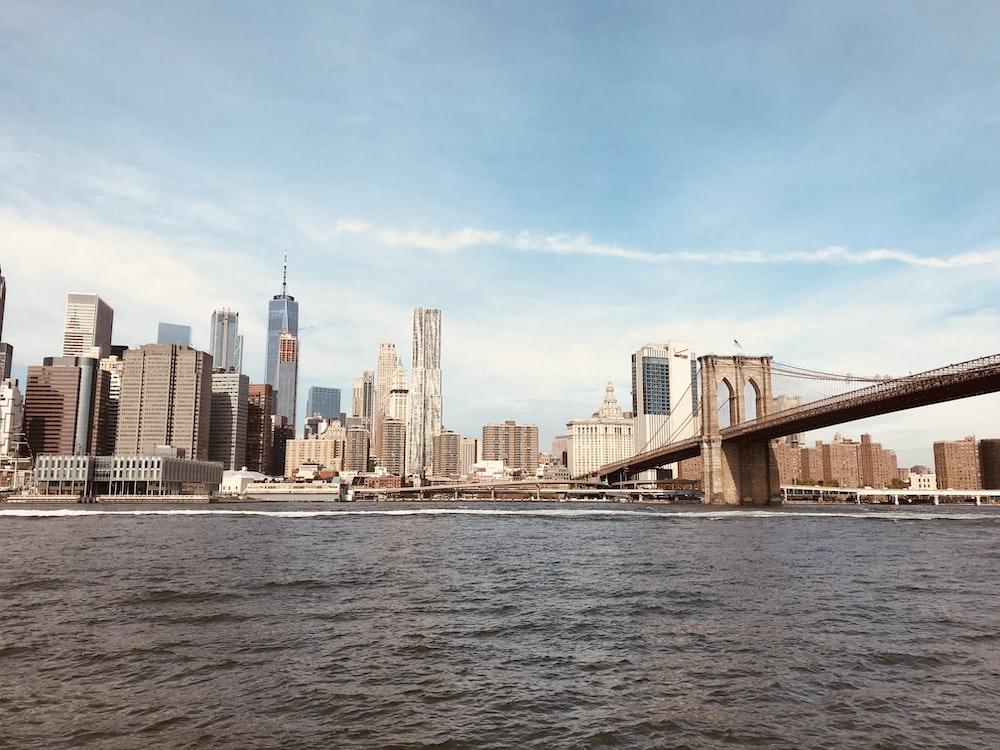 landscape photography of Brooklyn Bridge, New York at daytime