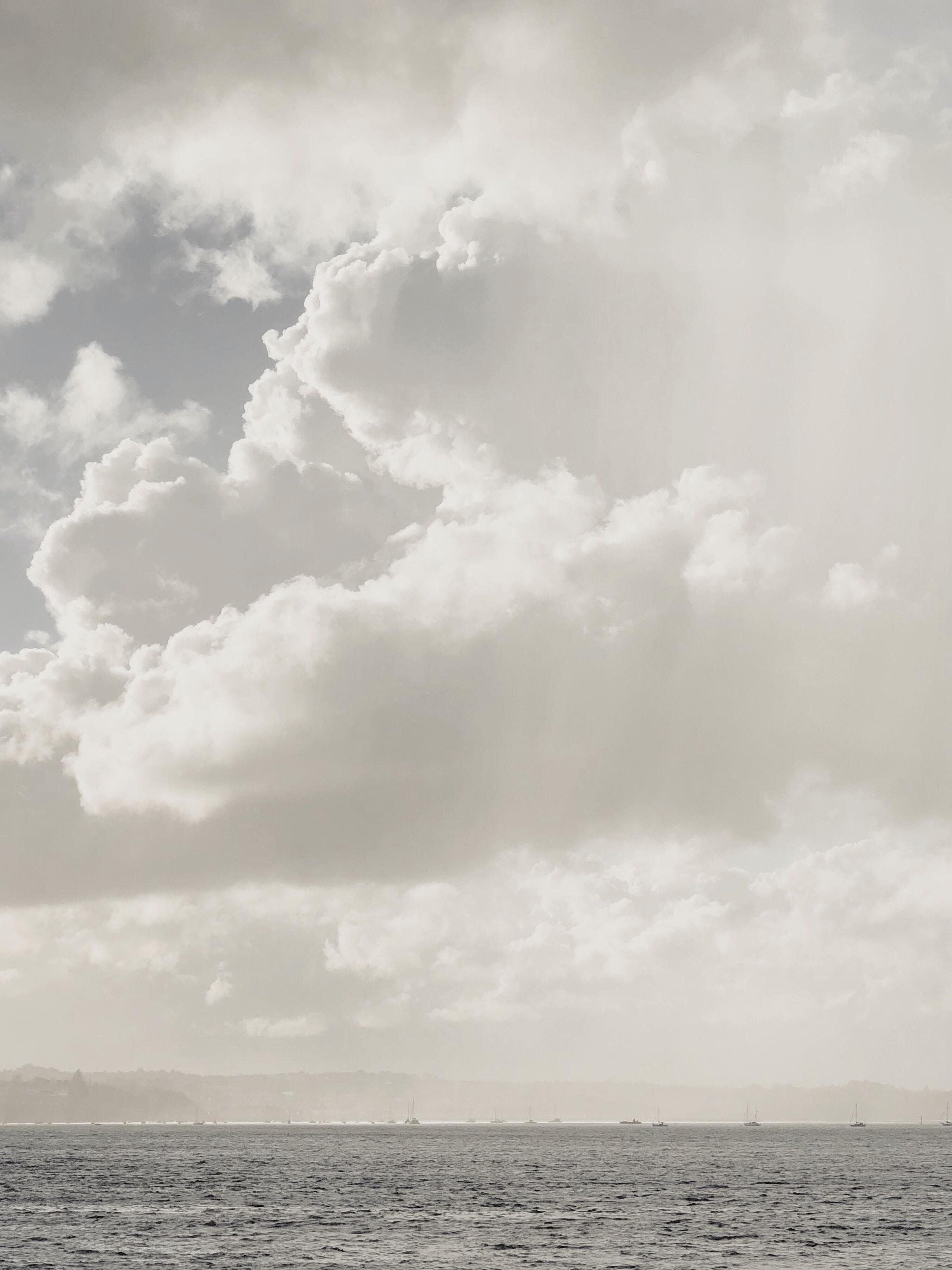 ocean under clouds