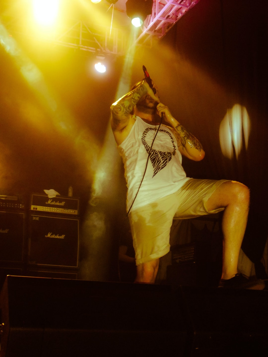 August burns red, a metalcore band from Lancaster, PA. when their show at Bulungan, Jakarta, ID.