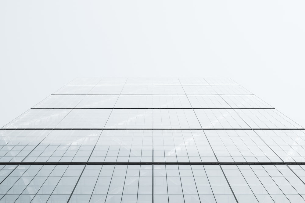 architecture photography of glass building