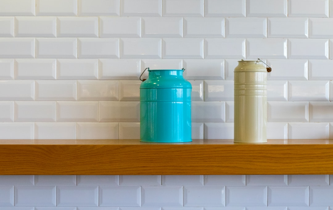 I was staying in a hotel the night before speaking at a leadership conference.  The next morning, I went for breakfast and this shelf, just with two flasks on it caught my eye.  It was very minimalistic which I loved and also the contrast.