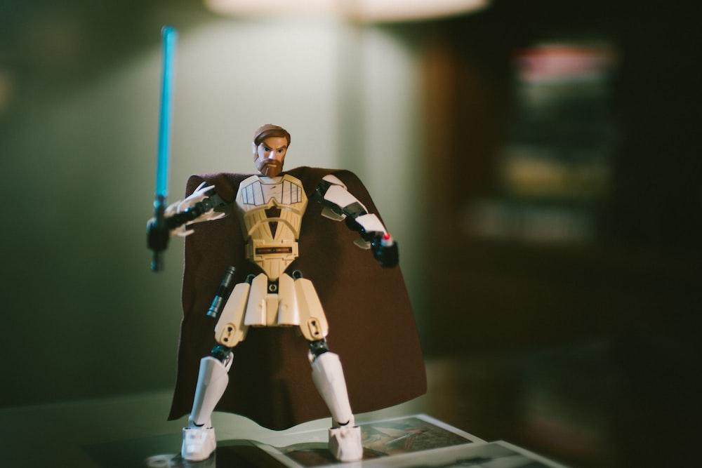 white Star Wars action figure