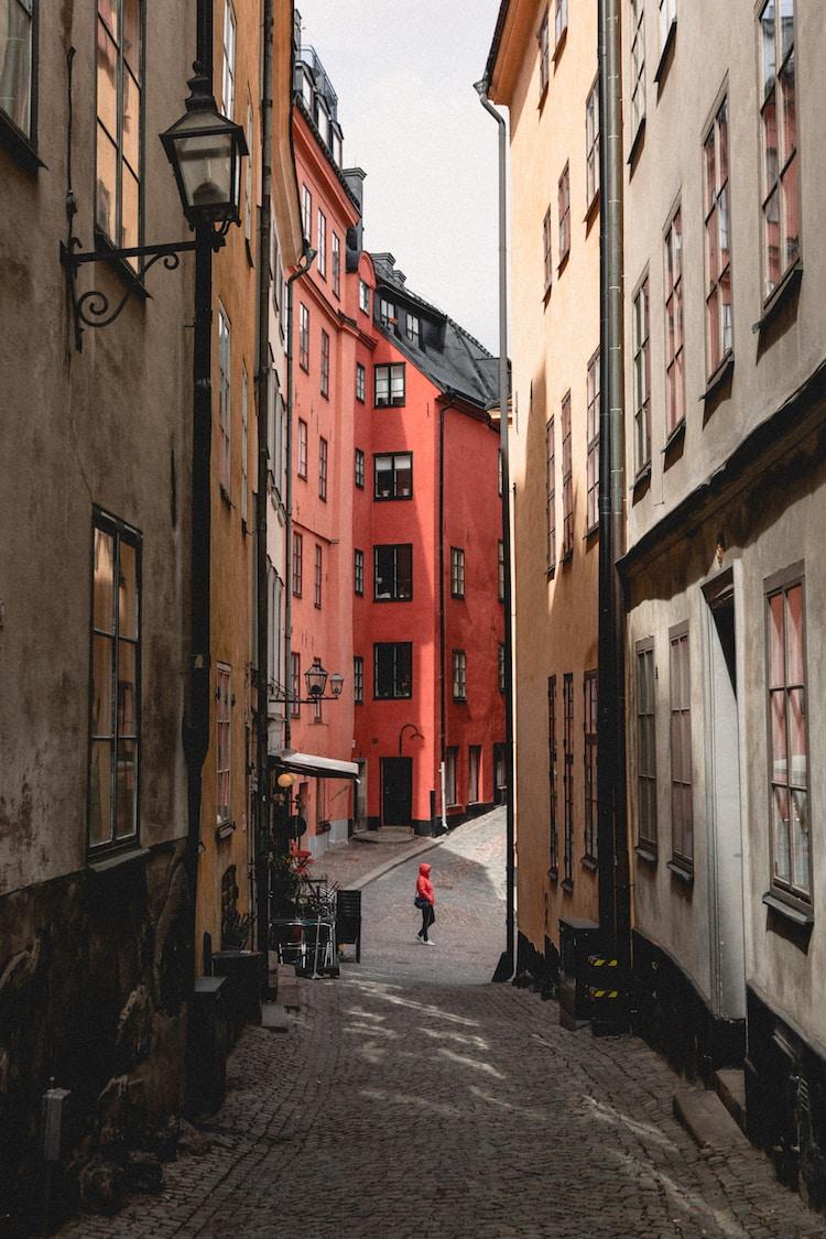 pathway between houses