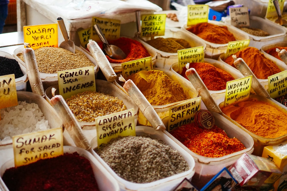 assorted-color spices