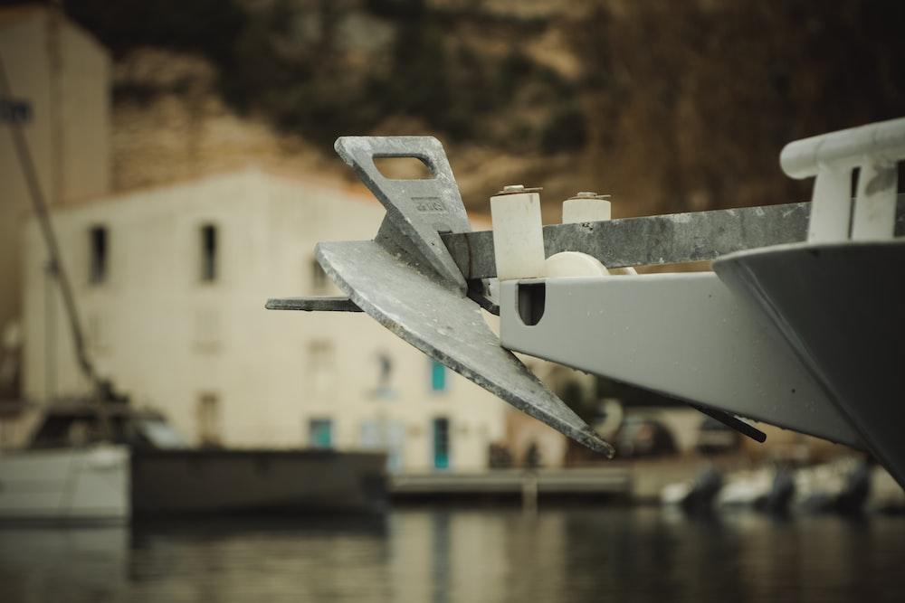 gray ship anchor on the ship