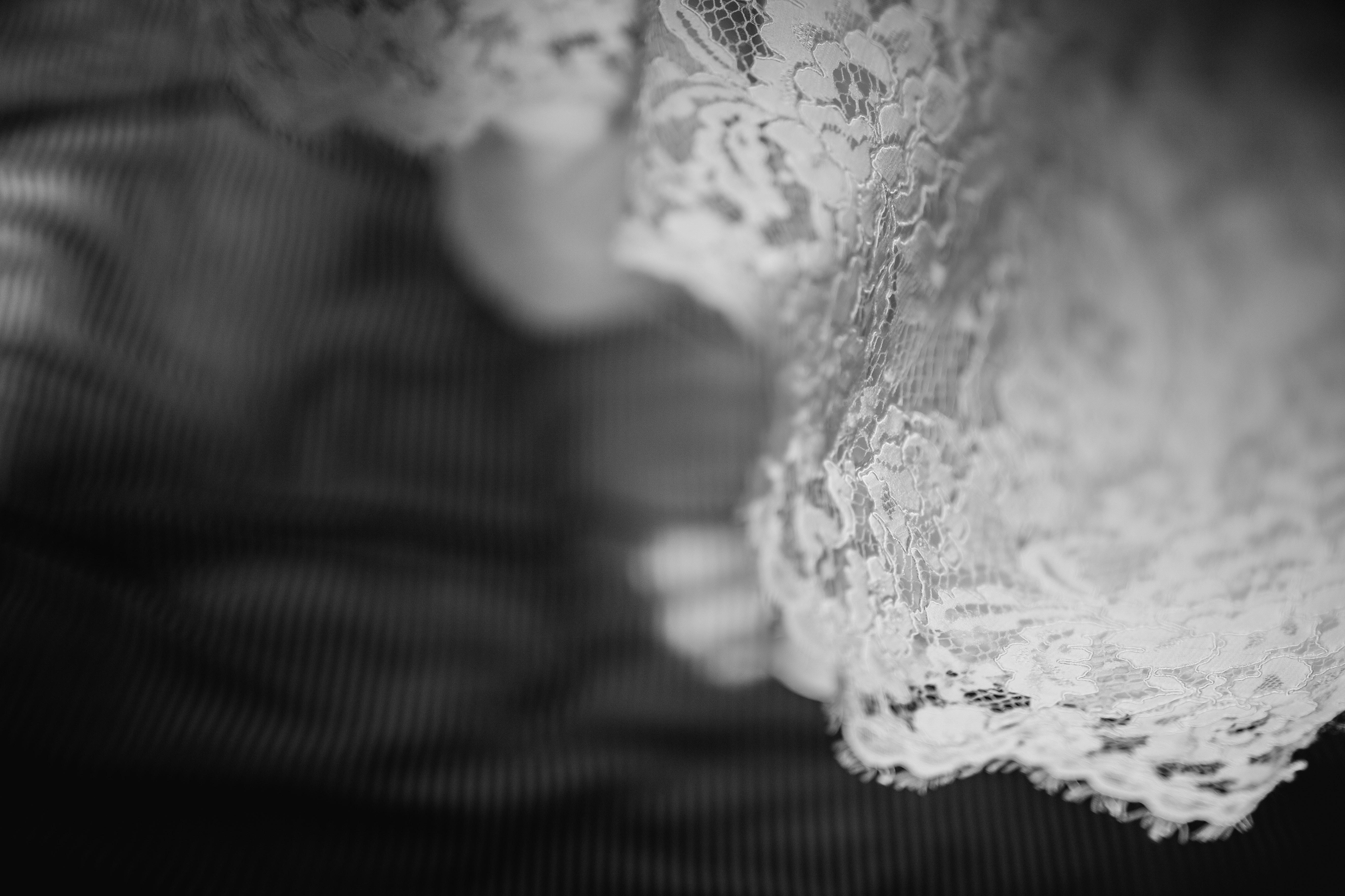 white lace textile