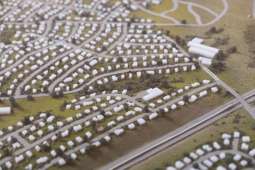 suburban scale model