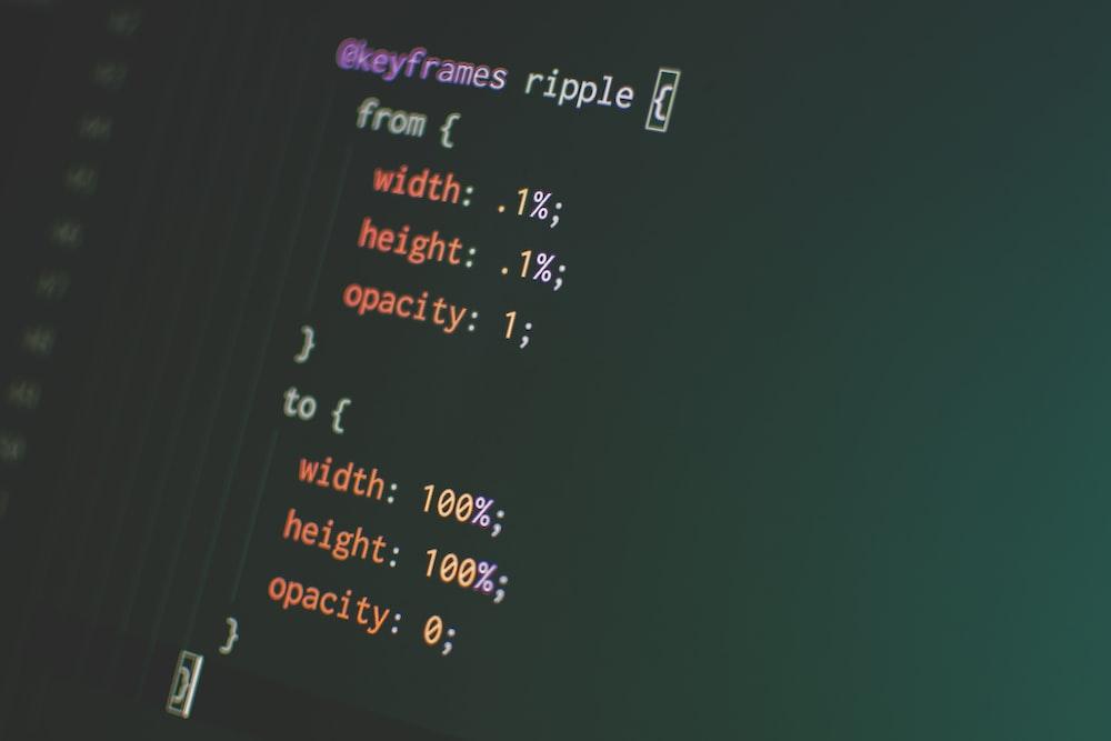 closeup photo of computer code screengrab