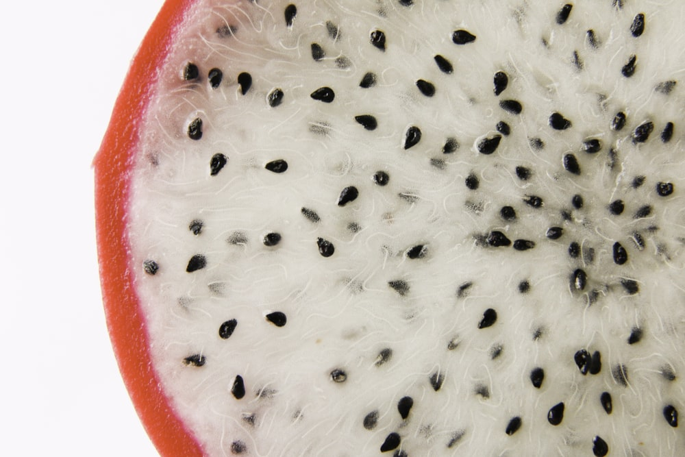 dragon fruit in close up photography