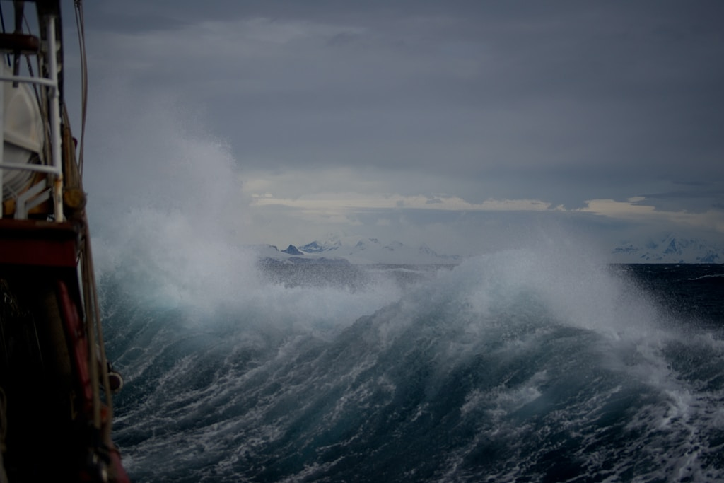 huge wave at daytime