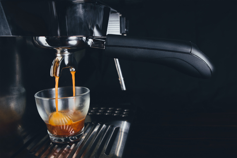 black coffeemaker