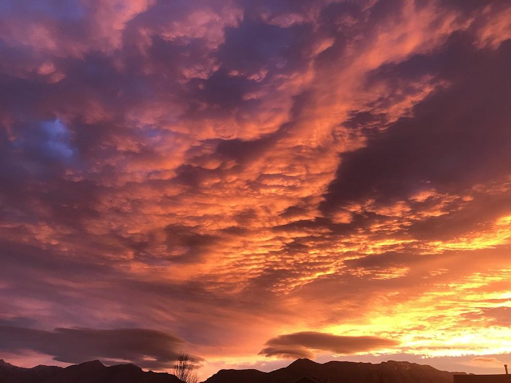 cloud sky during sunset