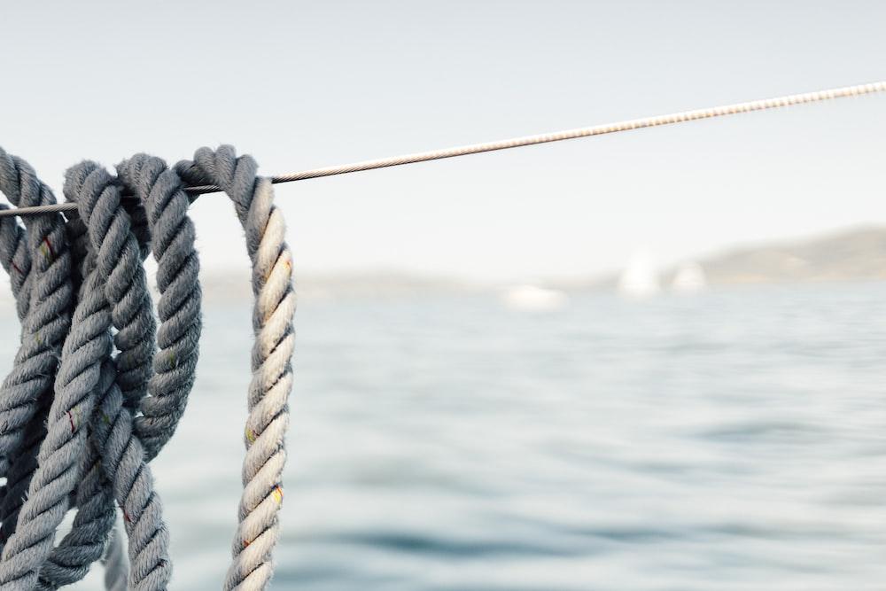 white rope on string