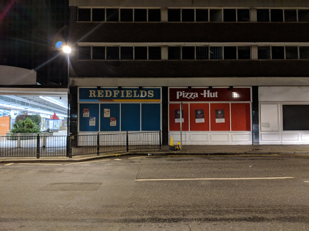 Redfields and Pizza-hut stores