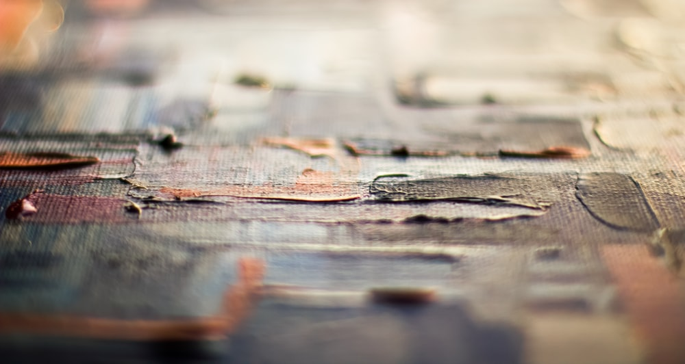 brown wooden surface with water droplets