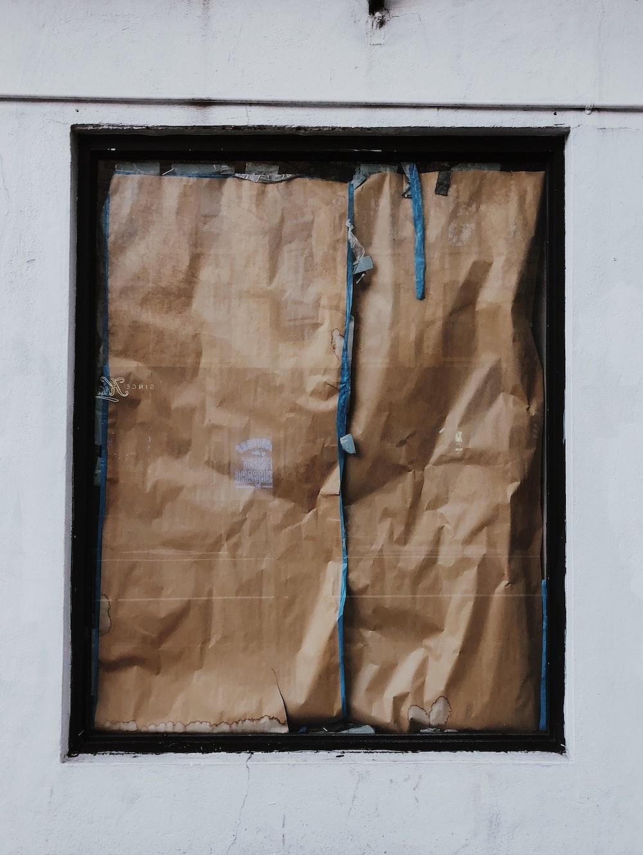 rectangular brown wooden frame