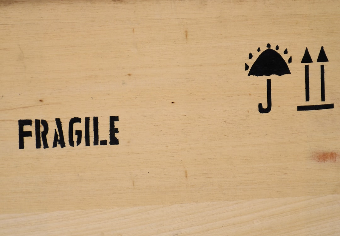 fragile sign board