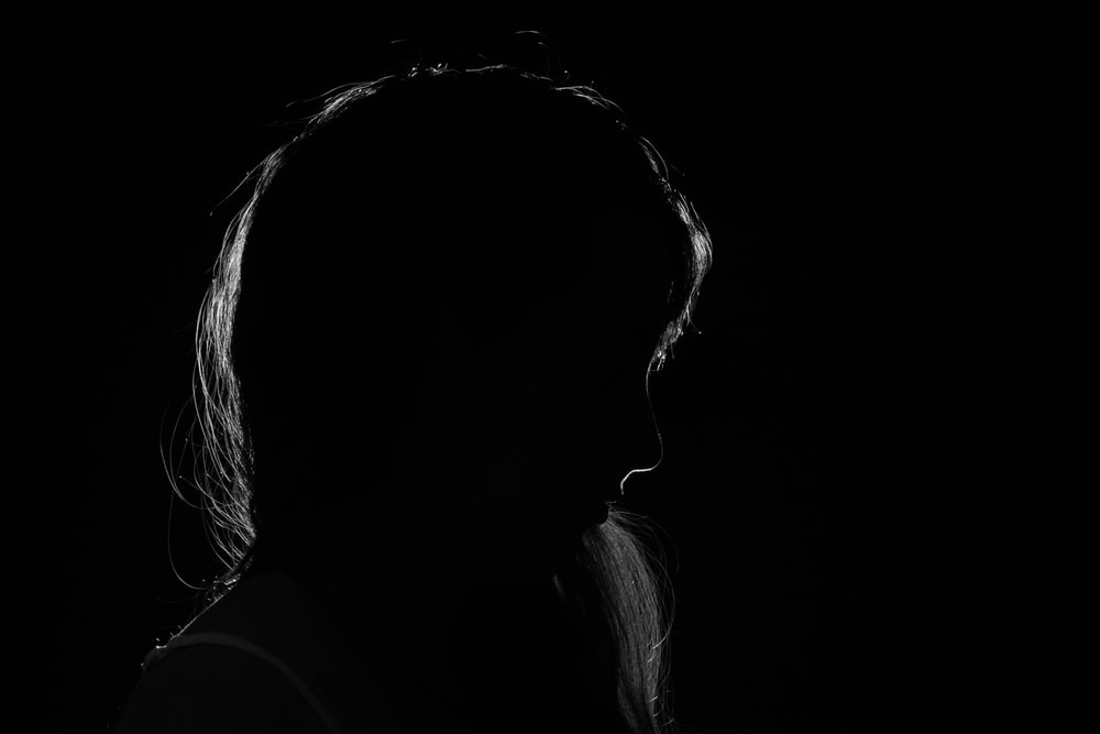 silhouette photography of woman
