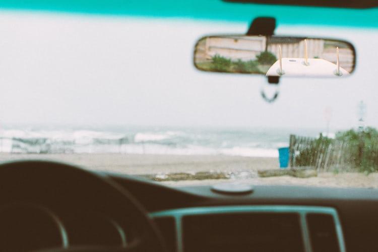 Plain Surfboard Inside Mirror