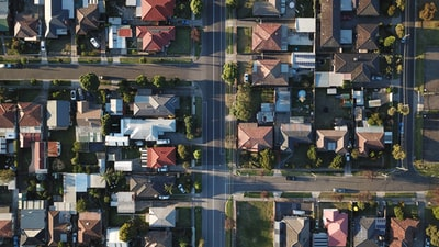 top-view photography of houses at daytime housing zoom background