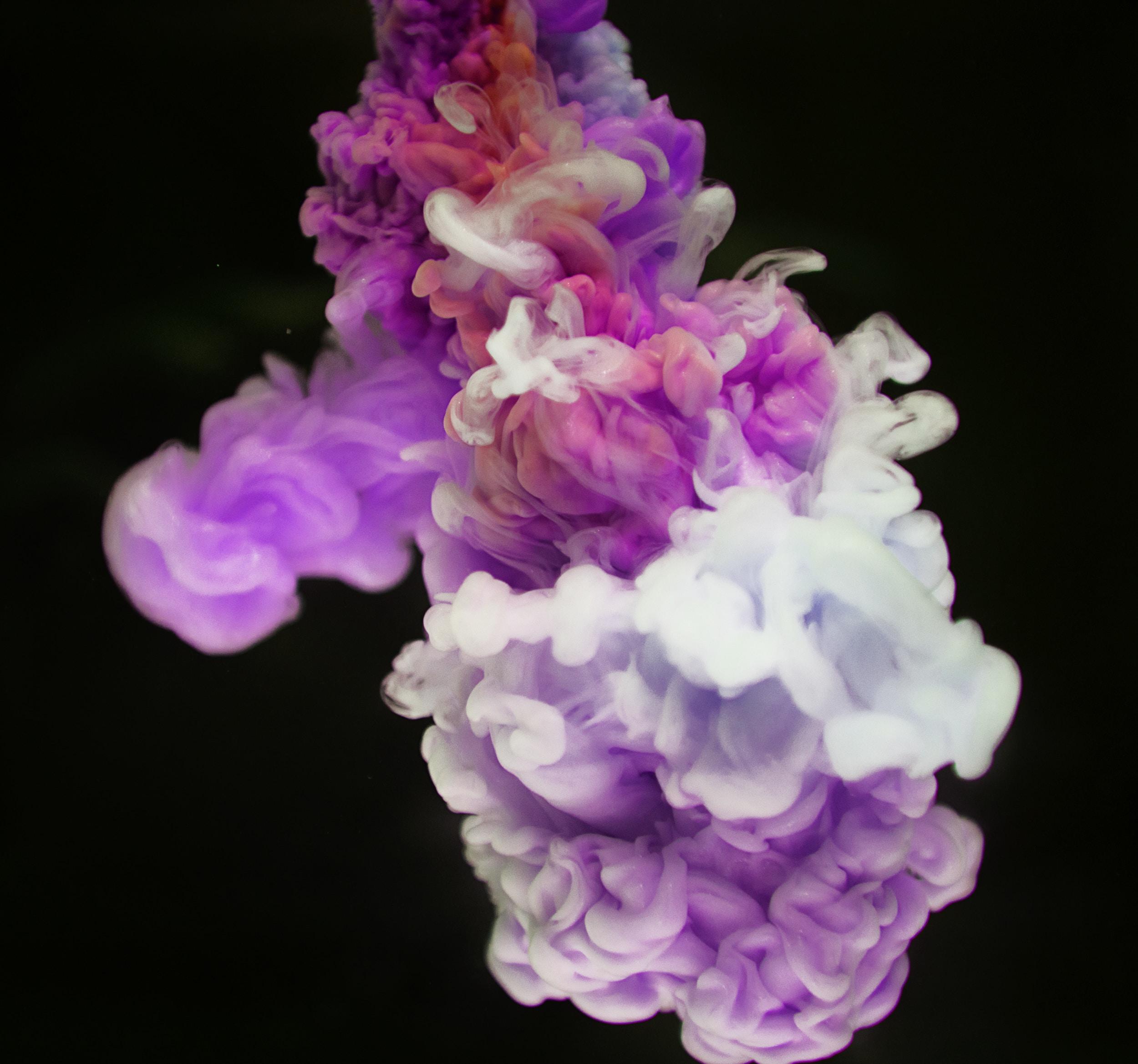purple and white smoke