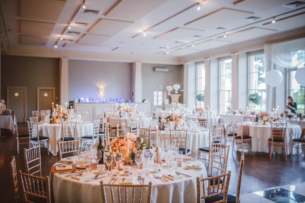 table settings in room
