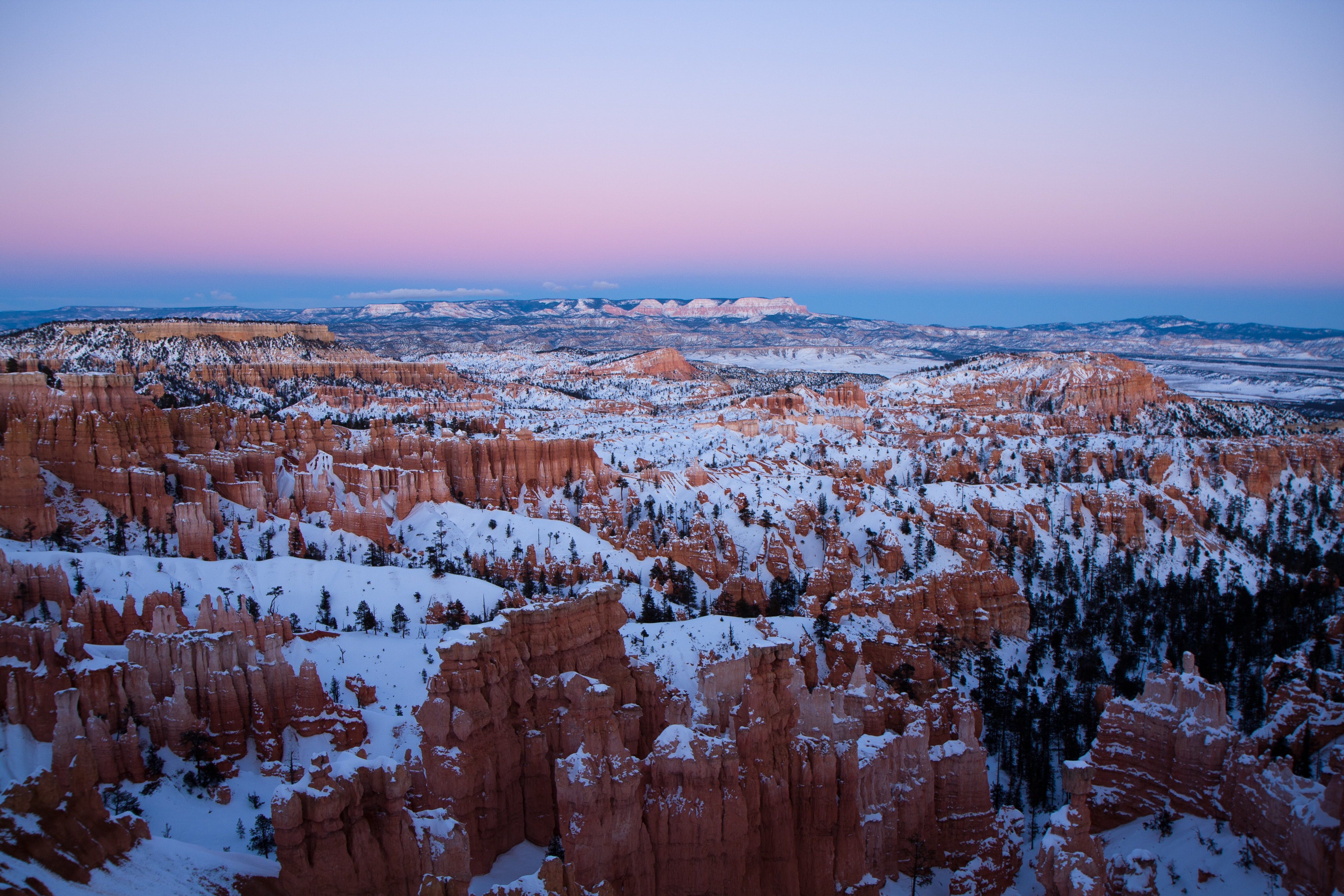 Bryce Canyon National Park, Utah during winter