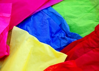 pile of assorted-color sheets