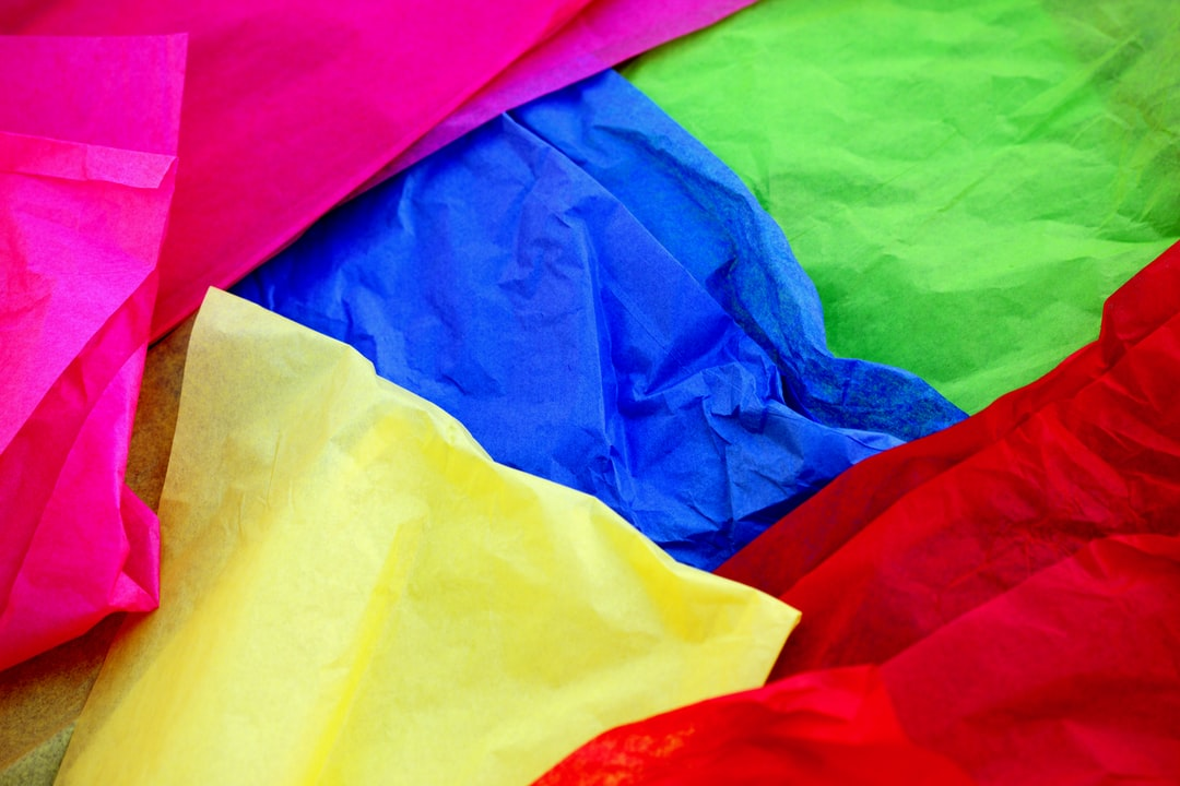 Bright and colorful crepe paper for arts and crafts.