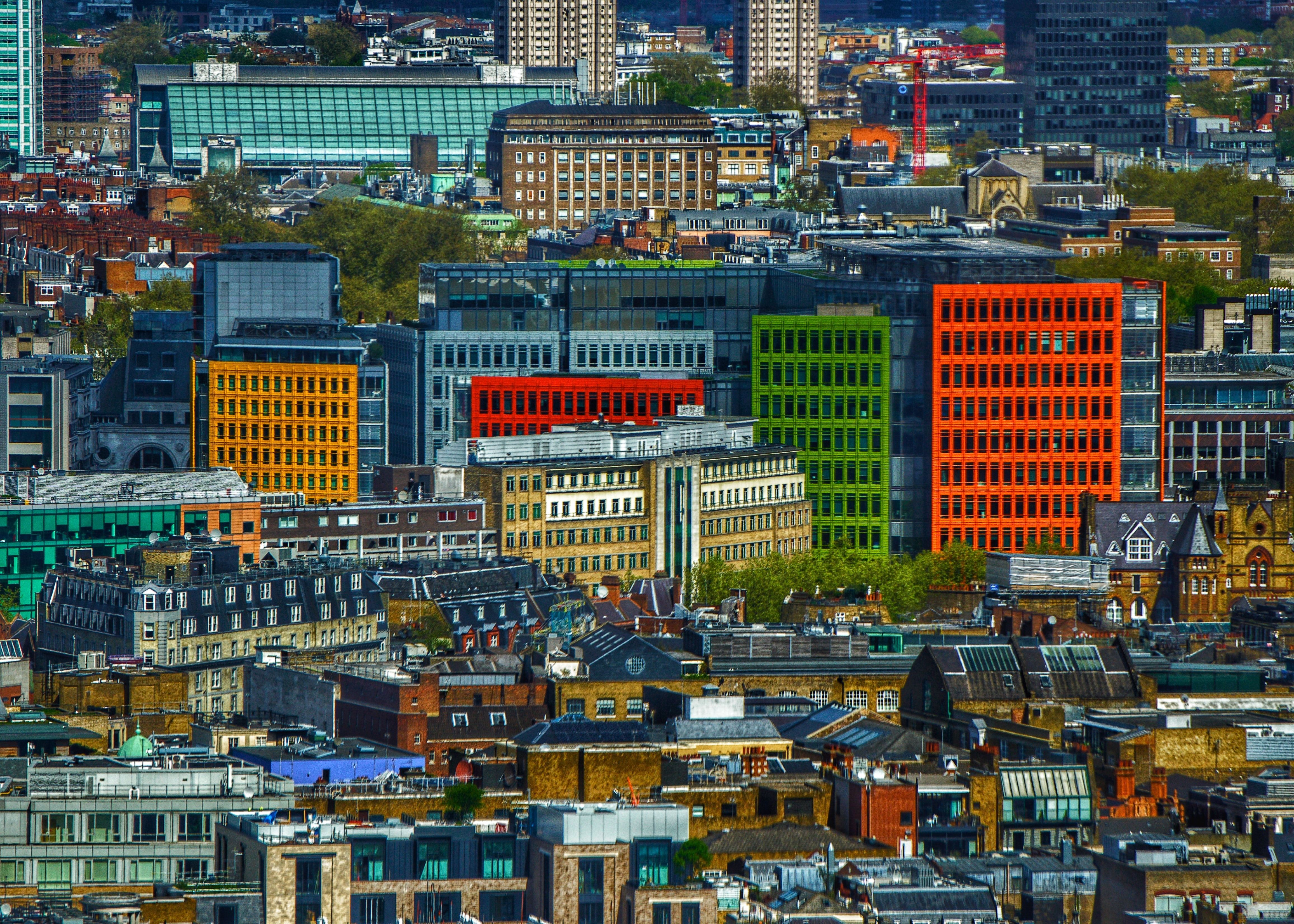 aerial view photography of city buildings