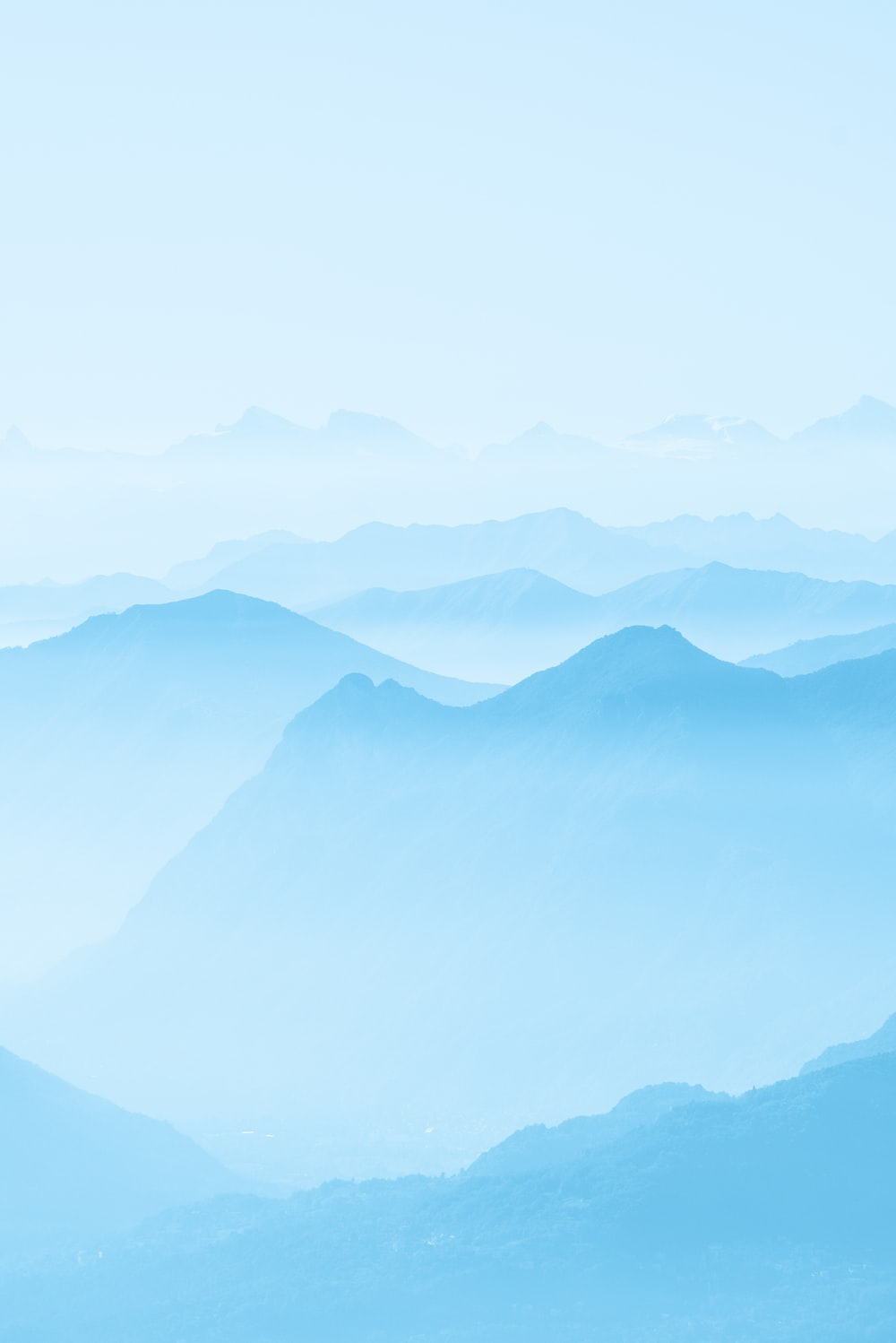 mountains covered with fog