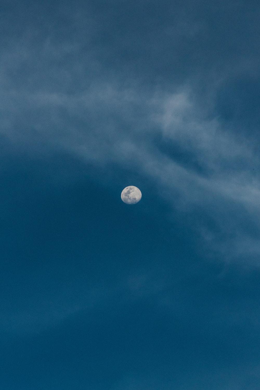 moon over clear sky